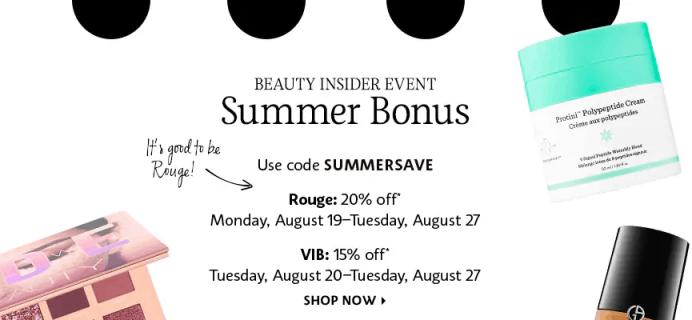 Sephora Summer Sale: Get 15% Off SITEWIDE!