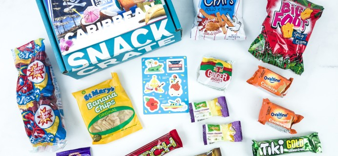 Snack Crate August 2019 Subscription Box Review & $10 Coupon