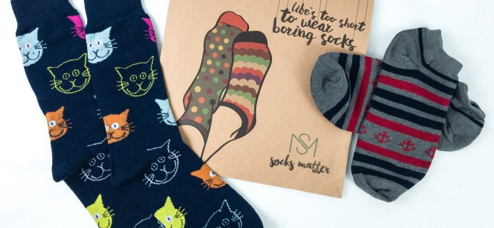 Socks Matter August 2019 Subscription Box Review + Coupon