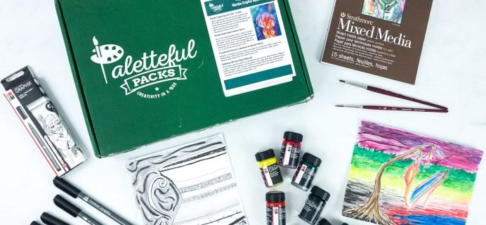 Paletteful Packs Subscription Box Review + Coupon – Marabu Graphix Aqua Ink