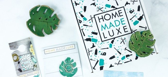 Home Made Luxe MONSTERA CLAY BOWLS Box Review + Coupon!