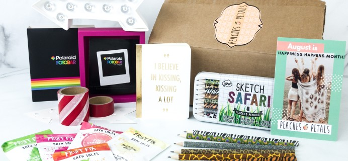 Peaches and Petals August 2019 Subscription Box Review & Coupon