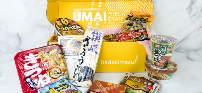 Umai Crate September 2019 Subscription Box Review + Coupon
