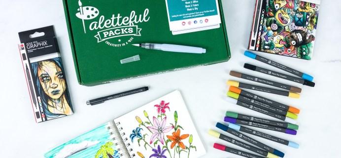 Paletteful Packs Subscription Box Review + Coupon – Graphix Aqua Pens