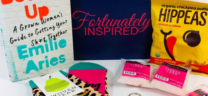 Fortunately Inspired September 2019 Subscription Box Review + Coupon