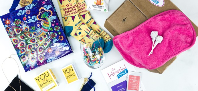 The Introverted Chick September 2019 Subscription Box Review + Coupon