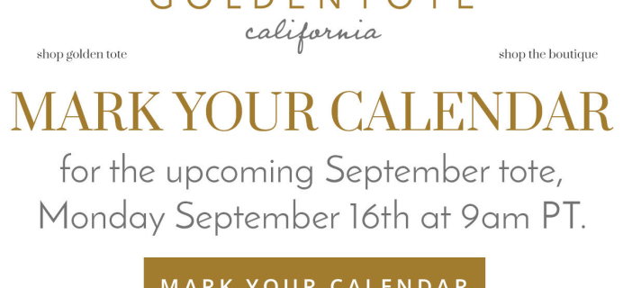 Golden Tote September 2019 Coming Soon!