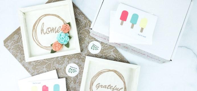 Confetti Grace Subscription Box Review + Coupon – FELT FLOWER WREATH