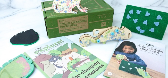 Kiwi Crate Review & 40% Off Coupon – COLOR-CHANGING CREATURES