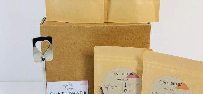 Chai Dhaba September 2019 Subscription Box Review + Coupon