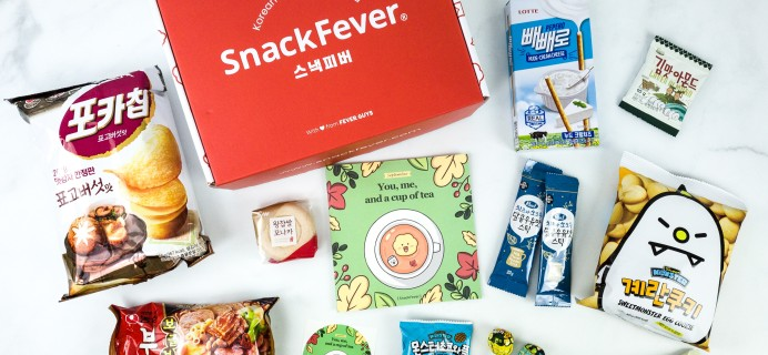 September 2019 Snack Fever Subscription Box Review + Coupon – Original Box!