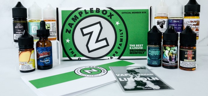 Zamplebox E-Juice September 2019 Subscription Box Review + Coupon!