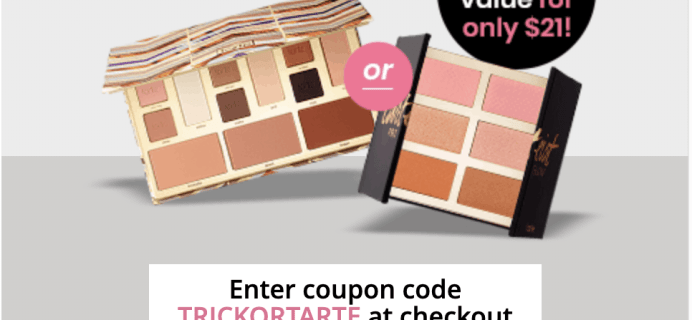 BOXYCHARM Coupon: FREE Tarte Face Shaping Palette OR Tarteist PRO Glow Cheek Palette ($45 Value)!