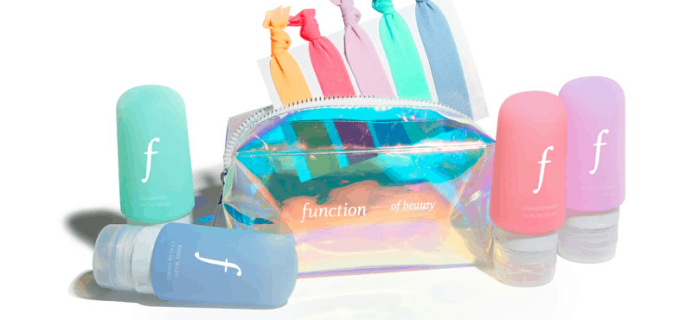 Function of Beauty Coupon: Get FREE Travel Kit!