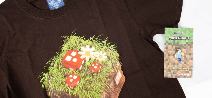 Minecraft T-Shirt Club September 2019 Subscription Box Review