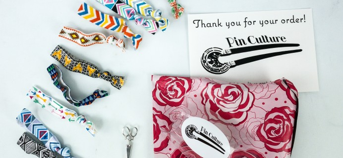 Pin Culture Subscription Box Review + Coupon  – Ribbon Ties Box