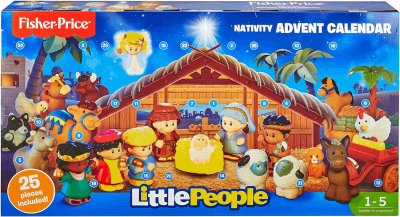 Little People Nativity Advent Calendar: 25 Figures + Nativity Play Set For Toddlers!