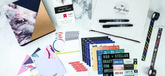 Busy Bee Stationery October 2019 Subscription Box Review