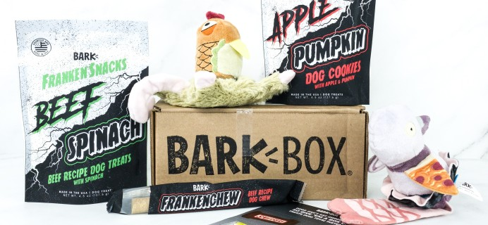 Barkbox October 2019 Subscription Box Review + Coupon