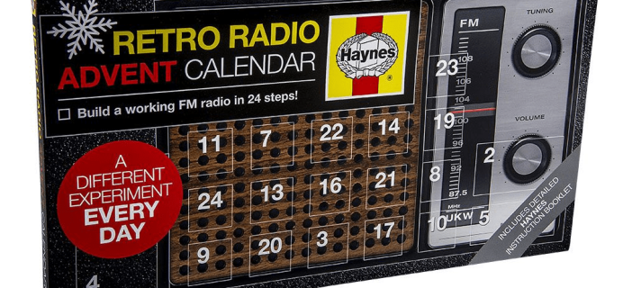2019 Retro Radio Advent Calendar Available Now!