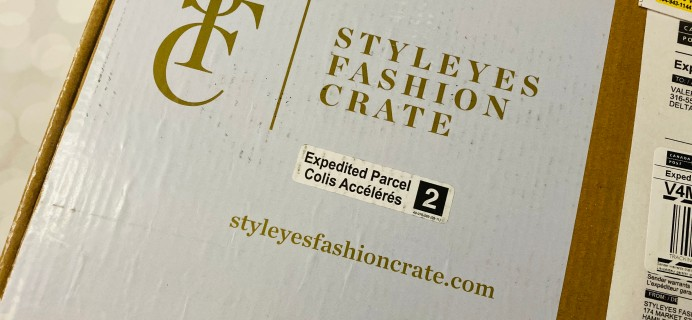 Styleyes Fashion Crate October 2019 Subscription Box Review