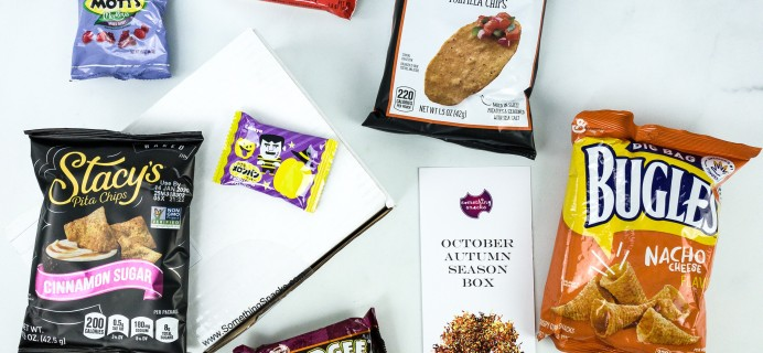 Something Snacks October 2019 Subscription Box Review