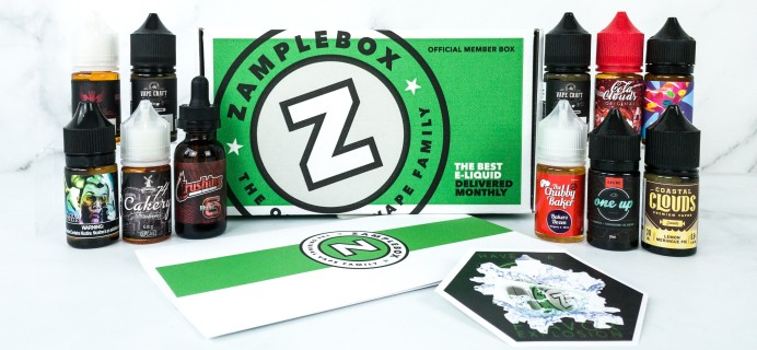 Zamplebox E-Juice October 2019 Subscription Box Review + Coupon!