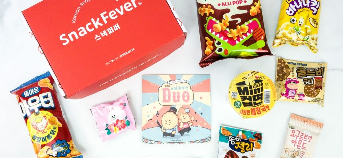 October 2019 Snack Fever Subscription Box Review + Coupon – Original Box!