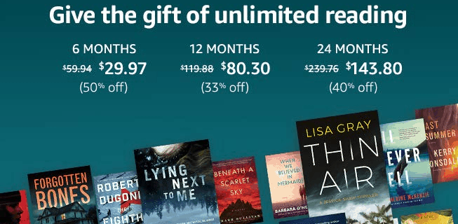 Amazon Kindle Unlimited Early Black Friday 2019 Coupon: Get Up To 40% Off!