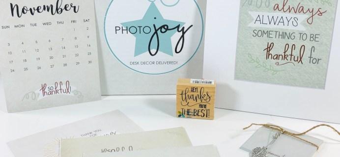 Photo Joy Box November 2019 Subscription Box Review + Coupon