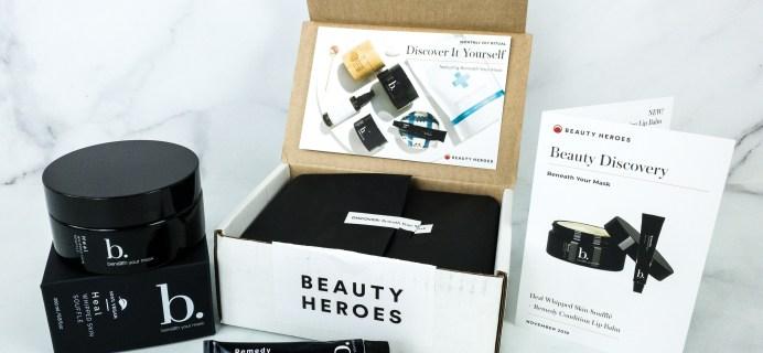 Beauty Heroes November 2019 Subscription Box Review