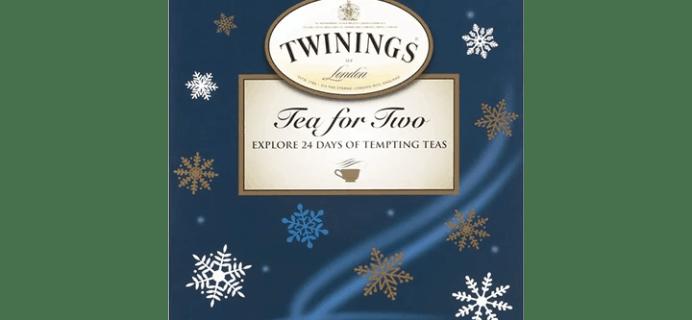 2019 Twinings Tea Advent Calendar Available Now!
