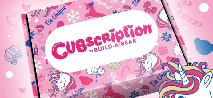 Cubscription Box by Build-A-Bear Winter 2019 Full Spoilers!