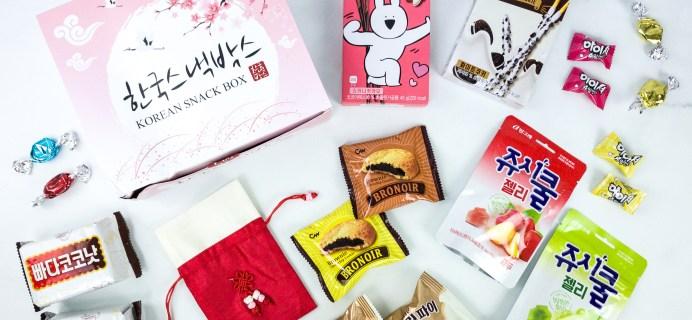 Korean Snack Box November 2019 Subscription Box Review + Coupon