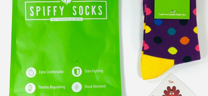 Spiffy Socks November 2019 Subscription Box Review  + Coupon