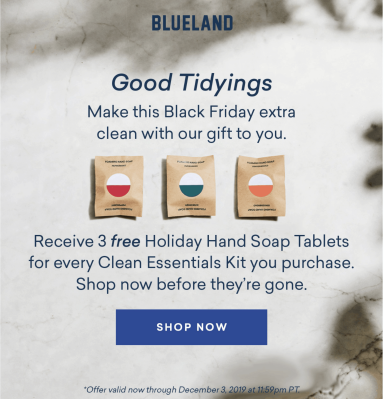 Blueland Black Friday Deal: FREE Holiday Hand Soap Tablets with Every Clean Essentials Kit!