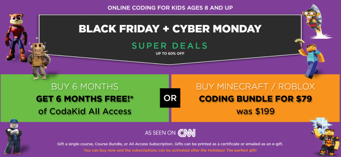 CodaKid Black Friday 2019 Coupon: FREE 6 Months & More!
