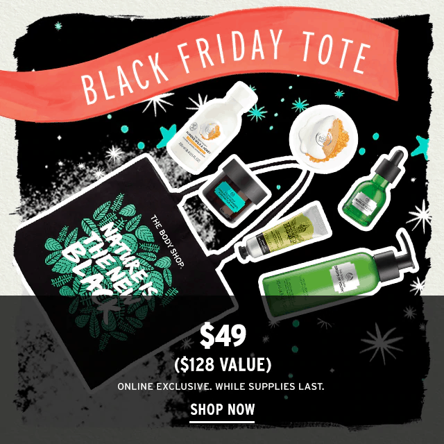 The Body Shop Black Friday 2019 Tote Available Now Full Spoilers Hello Subscription