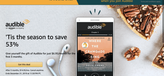 TODAY ONLY Amazon Audible Better than Black Friday Deal: $6.95 a Month for 3 Months + FREE $15 Amazon Credit!