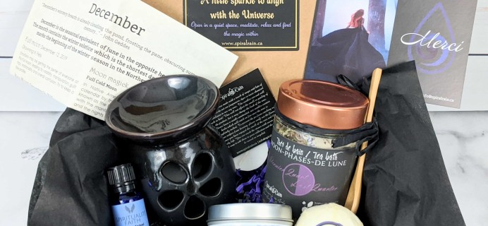 Spiral Rain Subscription Box Review – December 2019
