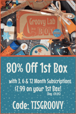 Groovy Lab In A Box Black Friday Coupon: 80% Off First Box with Prepaid Subscriptions!