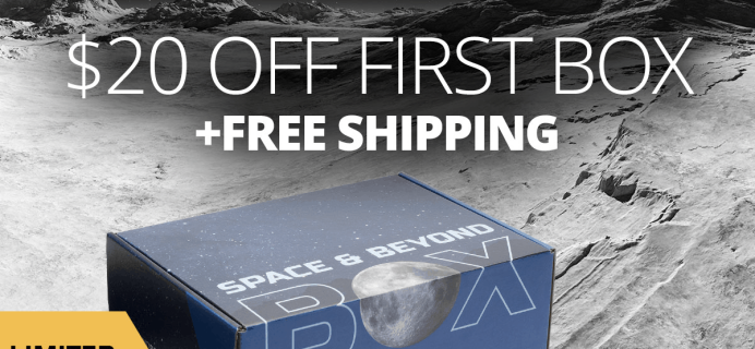 Space & Beyond Box Black Friday Deal: Get $20 off your first box + FREE SHIPPING!
