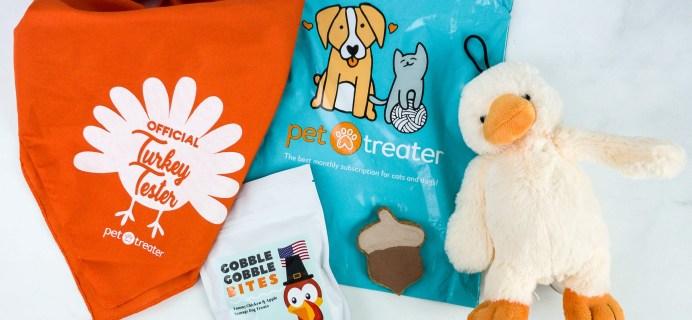 Pet Treater Dog Pack November 2019 Subscription Box Review + Coupon