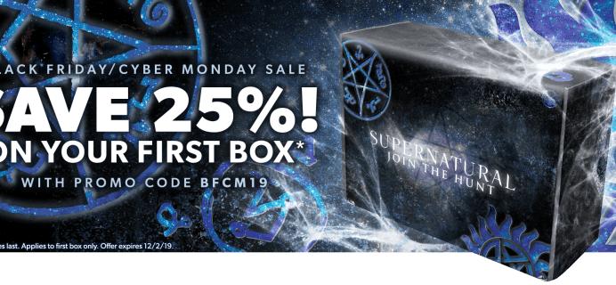 Supernatural Box Black Friday 2019 Coupon: Get 25% Off Your First Box!