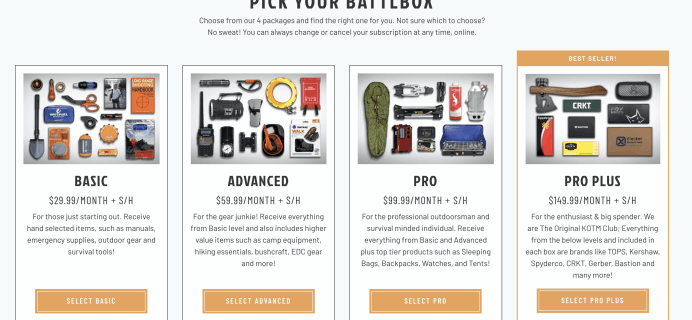 BattlBox Before Black Friday Deal: Get 10% off your first box!