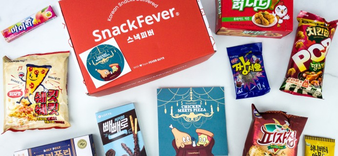 November 2019 Snack Fever Subscription Box Review + Coupon – Original Box!