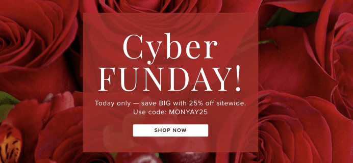 The Bouqs Cyber Monday Sale: Save 25% Off!