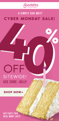 Foodstirs Cyber Monday 2019 Coupon: 40% Off Sitewide!