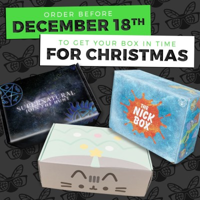 Culturefly Boxes Available for Holiday Delivery! LAST CALL on Pusheen Box, Supernatural Box, and More!