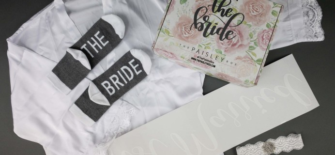 The Paisley Box Subscription Review – WEDDING DAY BOX!